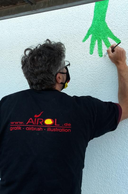 AIROL (Roland Oberndorfer) macht den Endschliff